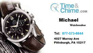 Time and Chime Business Card